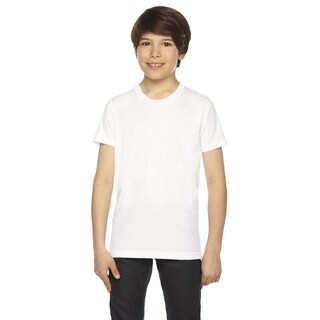Youth White 50/50 Polyester/Cotton Short Sleeve T-Shirt