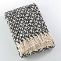 Sevan Collection Soft Cotton Diamond Weave Throw Blanket