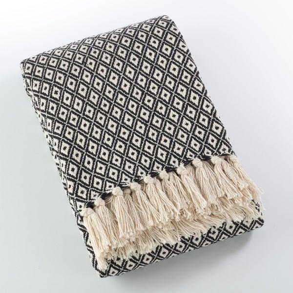 Sevan Collection Soft Cotton Diamond Weave Throw Blanket