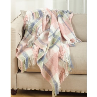 Sevan Collection Faux Mohair Design Throw Blanket