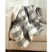 Sevan Collection Faux Mohair Design Sherpa Throw Blanket