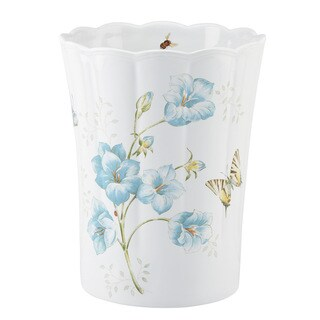 Lenox Blue Butterfly Meadow Waste Basket