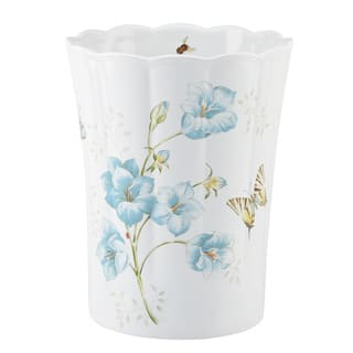 Lenox Blue Erfly Meadow Waste Basket