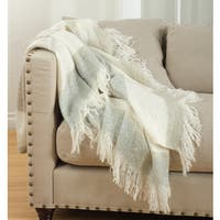 Sevan Collection Faux Mohair Design Throw Blanket