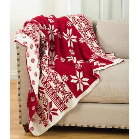 Sevan Collection Knitted Christmas Design Throw Blanket