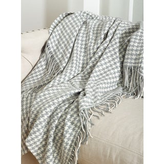 Sevan Collection Houndstooth Design Throw Blanket