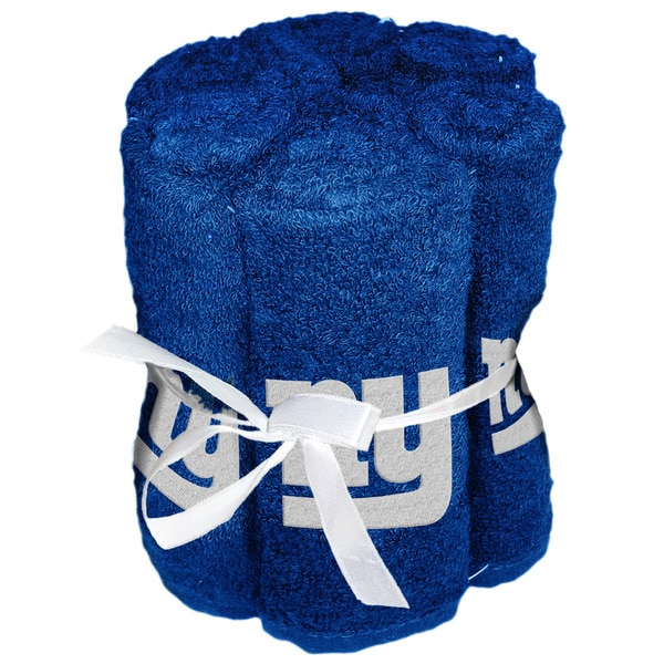 NFL 975 NY Giants Washcloths (Pack of 6)