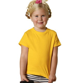 Youth Gold Short-sleeved Jersey Shirt