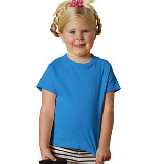 Girls' Cobalt Cotton 5.5-ounce Jersey Short Sleeve T-shirt