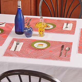 Phase Indian Coral Polyester Placemats (Pack of 4)