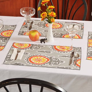 Michelle Citrus Polyester Placemats (Pack of 4)