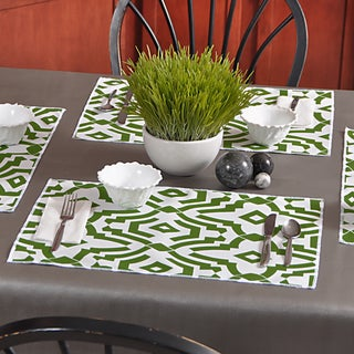 Chevelle Bay Green Polyester Placemats (Pack of 4)