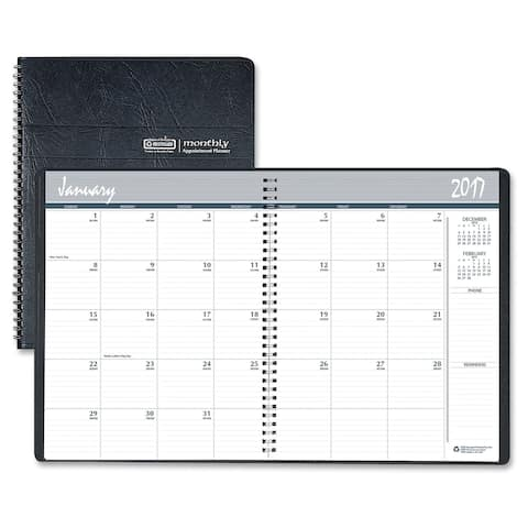 House of Doolittle Monthly Planner - Black