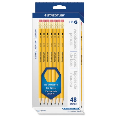 Staedtler Pre-sharpened No. 2 Pencils - Yellow (48/Box)