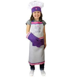 MUkitchen MiniMU Kids 'Princess in the Kitchen' 3-piece Cotton Chef Set