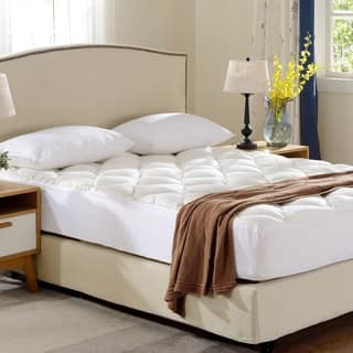 Cheer Collection All Season Rayon From Bamboo Plush Mattress Pad|https://ak1.ostkcdn.com/images/products/12172939/P19024455.jpg?impolicy=medium