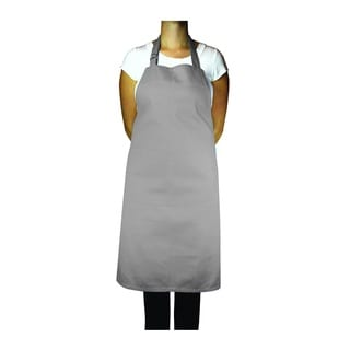 MUkitchen Adjustable Cotton Nickel-color Herringbone Weave 35-inch Apron with Large Pockets