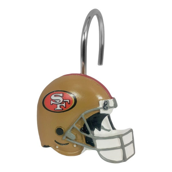 Northwest Company NFL 942 49ers Shower Curtain Rings (Pack of 12)