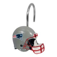The Northwest Company NFL New England Patriots Shower Curtain Rings Pack Of 12