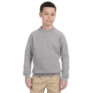 Jerzees Super Sweats Boys' Oxford Cotton and Polyester Crewneck Sweatshirt