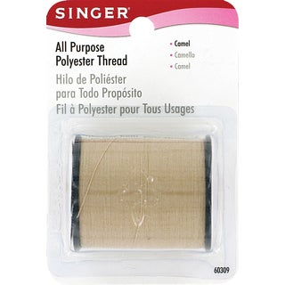 Singer 60309 150 Yards Camel All Purpose Polyester Thread