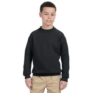 Super Sweats Youth Black Crewneck Sweatshirt|https://ak1.ostkcdn.com/images/products/12172961/P19024497.jpg?impolicy=medium