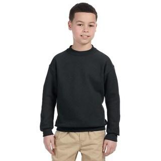 Super Sweats Youth Black Crewneck Sweatshirt