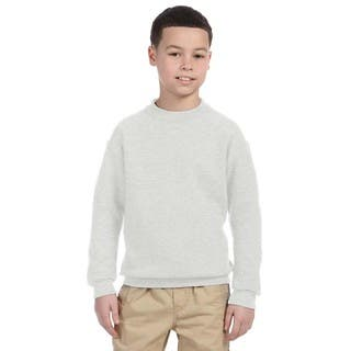 Super Sweats Youth Ash Crewneck Sweatshirt|https://ak1.ostkcdn.com/images/products/12172962/P19024498.jpg?impolicy=medium