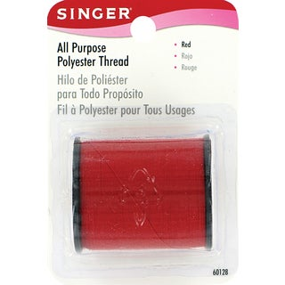 Singer 60128 150 Yards Red All Purpose Polyester Thread