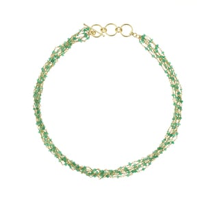 Green Onyx Multi-strand Necklace