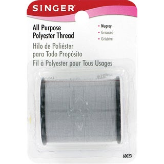Singer 60023 150 Yards Nugrey All Purpose Polyester Thread