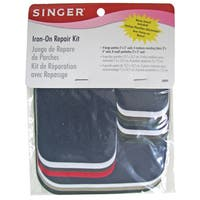 Singer 00099K Assorted Twill Iron On Repair Kit 16-count