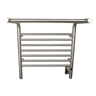 Amba Jeeves Silver Metal, Steel M Shelf Bathroom Towel Warmer