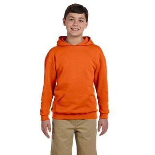 Nublend Boys Safety Orange Hooded Pullover Sweatshirt