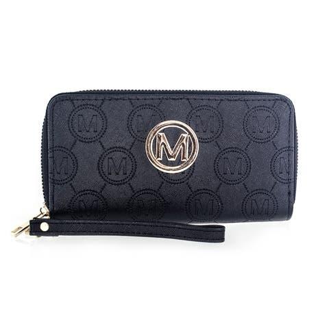 Faddism Women's Black Hemp Clutch Bag Wallet