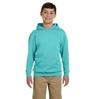 Nublend Boy's Scuba Blue Hooded Pullover Sweatshirt