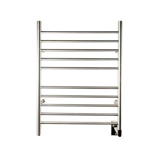 Amba Radiant Silver Metal, Steel Straight Hardwired Bath Towel Warmer