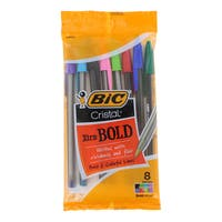 Bic Cristal Xtra Bold Stick Bold Point 1.6-millimeter Ballpoint Pens