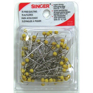 Singer 00351 Yellow Quilting Pins 75-count