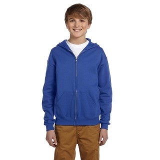 Nublend Boy's Royal Full-zip Hooded Sweatshirt