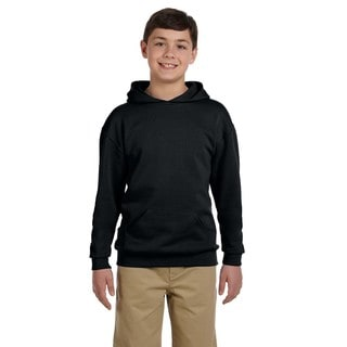Boy's Nublend Black Hooded Pullover Sweatshirt