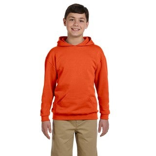 Jerzees Boys' Nublend Burnt Orange Hooded Pullover Sweatshirt (4 options available)