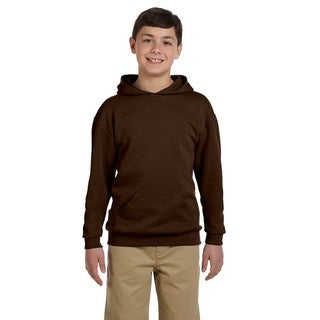 Boy's Nublend Chocolate Hooded Pullover Sweatshirt