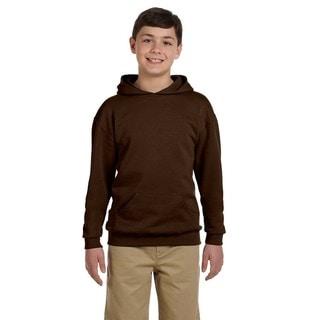 Boy's Nublend Chocolate Hooded Pullover Sweatshirt