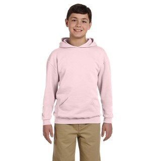 Nublend Boy's Classic Pink Hooded Pullover Sweatshirt