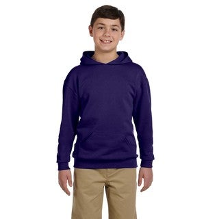 Jerzees Boys' Nublend Deep Purple Cotton/Polyester Hooded Pullover Sweatshirt