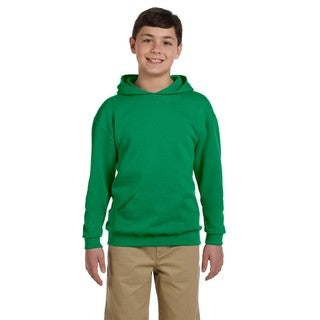 Jerzees Boys' Kelly Green NuBlend Hooded Pullover Sweatshirt