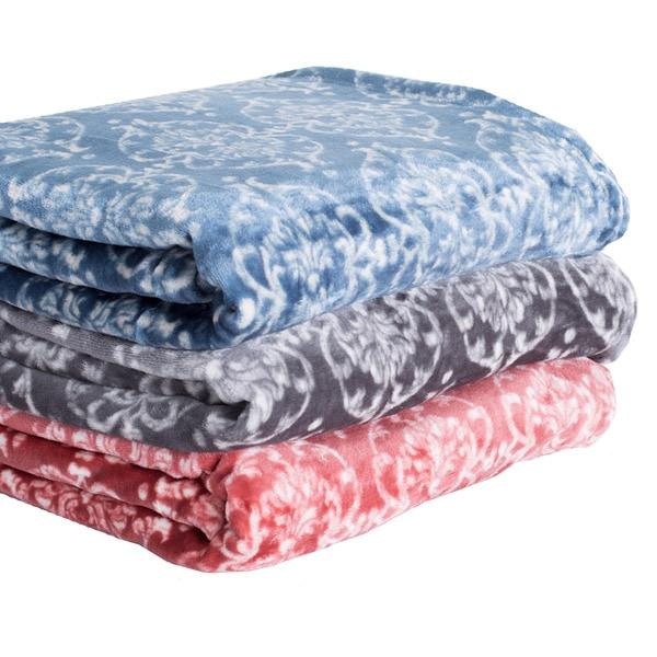 Home Fashion Designs Kingston Collection Ultra Velvet Plush Blanket