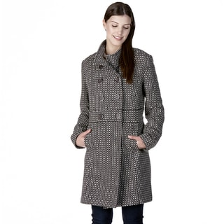 Women's Romania Brown Cotton/Polyester/Wool Coat