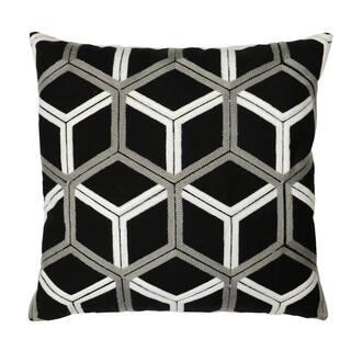 Lush Decor Lattice Black And Grey Cotton 18 Inch X Decorative Pillow